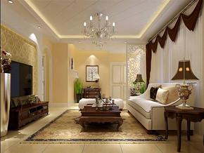 現代簡約別墅客廳窗簾圖片