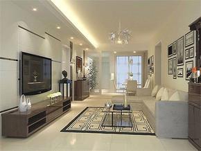 現代簡約風格小戶型客廳吊頂裝修效果圖