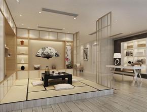 日式風格客廳榻榻米裝修效果圖
