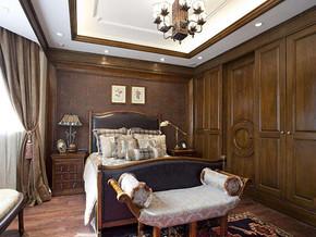美式风格卧室整体衣柜装修效果图