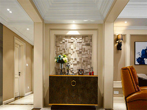140平美式風格三居室玄關柜圖片