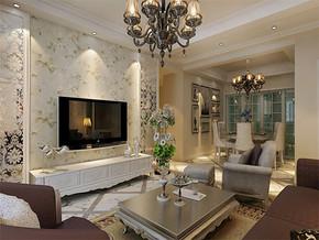 简欧风格客厅居家室内设计效果图