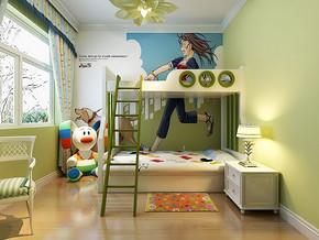 兒童房手繪背景墻效果圖