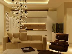 现代简欧客厅装修实景图