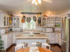 田園風格開放式廚房裝修效果圖