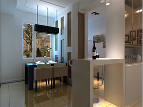现代家庭餐厅吧台装修效果图