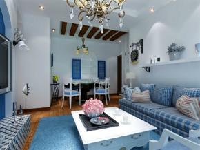 地中海風格客廳裝修效果圖