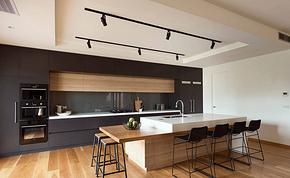 开放式厨房高低吧台装修效果图