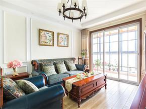 145平米美式三居室客廳陽臺隔斷