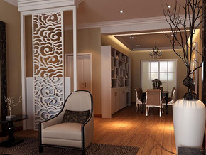 欧式风格客厅玄关装修设计效果图