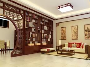 中式客廳裝修效果圖