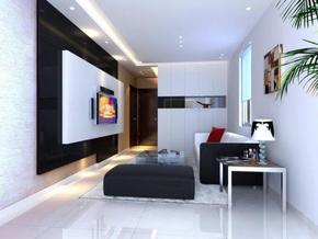 兩室一廳現代風格裝修效果圖