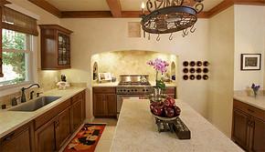 歐式復古風格廚房裝修效果圖
