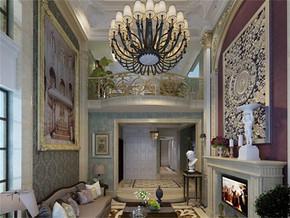 法式風格客廳裝修效果圖