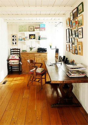 美式小清新风格书房装修效果图