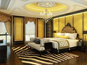 歐式風格別墅臥室裝修效果圖