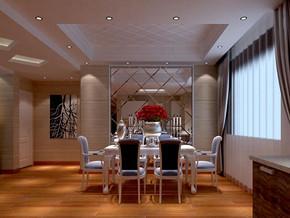 现代简约风格餐厅吊顶装修效果图