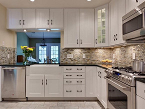 简欧风格厨房整体橱柜装修效果图