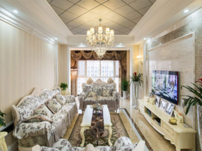 別墅歐式風格客廳裝修效果圖