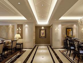 簡歐風格玄關走廊裝修效果圖