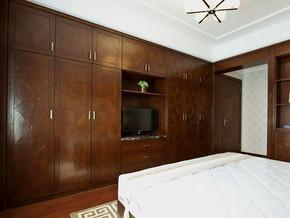 中式風格臥室組合柜裝修效果圖