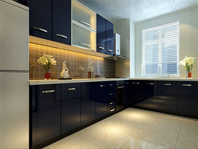 现代简约厨房装修图片