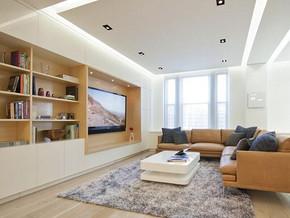 日式风格客厅电视背景墙装修效果图