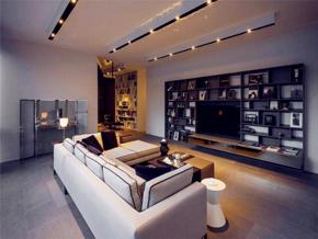 现代风格低奢客厅实用背景墙图片