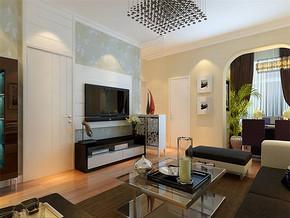 现代简约小客厅家装修效果图