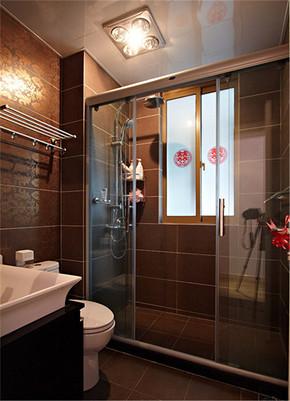 干湿区分美式卫生间装修效果图