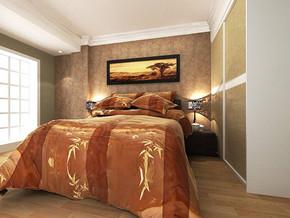 現代臥室照片墻設計裝修圖