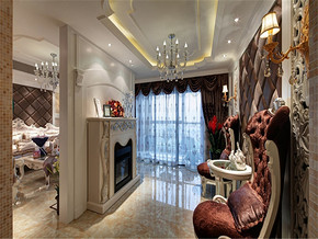 奢華法式新古典客廳吊頂裝修圖