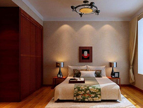 中式风格卧室衣柜装修设计效果图