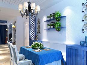 地中海餐厅时尚吊灯装修效果图
