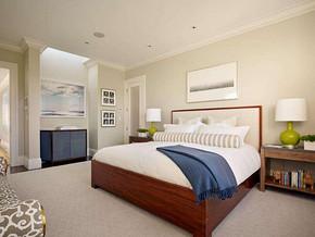 現代風格臥室背景墻裝修效果圖