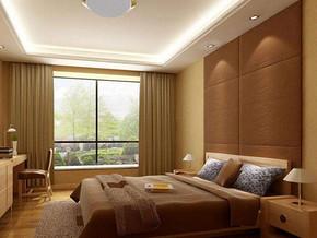 新中式風格臥室背景墻裝修效果圖