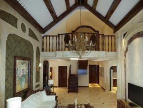 別墅客廳歐式豪華風格裝修效果圖