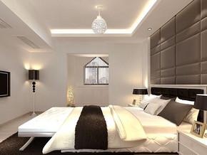 简约风格卧室背景墙装修效果图
