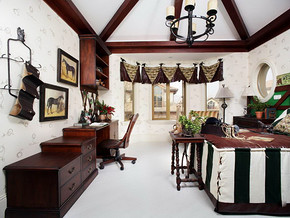 簡約歐式客廳室內裝修效果圖