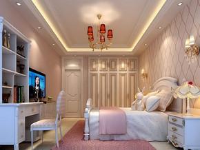 簡裝風格三室一廳效果圖