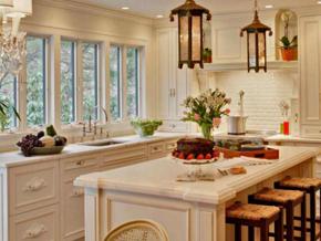 别墅田园风格厨房装修效果图