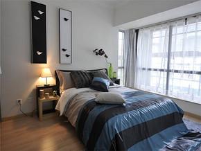 現代風格臥室背景墻裝修圖片