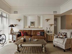 美式風格客廳沙發背景墻裝修效果圖