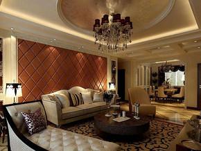欧式风格客厅吊顶吊灯装修效果图