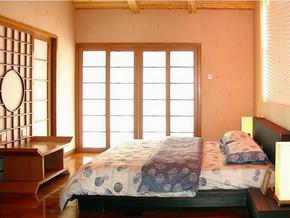 日式风格卧室墙面装修效果图