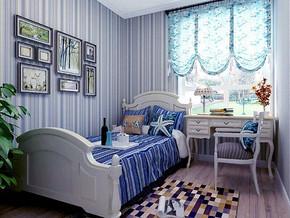 地中海风格卧室背景墙装修效果图
