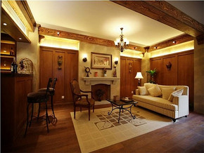 古典英式风格客厅装修效果图