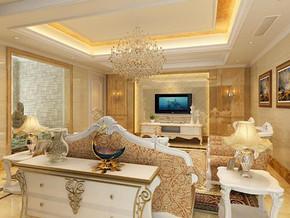 欧式风格客厅吊灯装修效果图