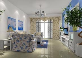 田园风格两室两厅小户型装修效果图