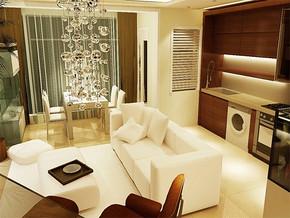 现代简约楼房客厅装修图片